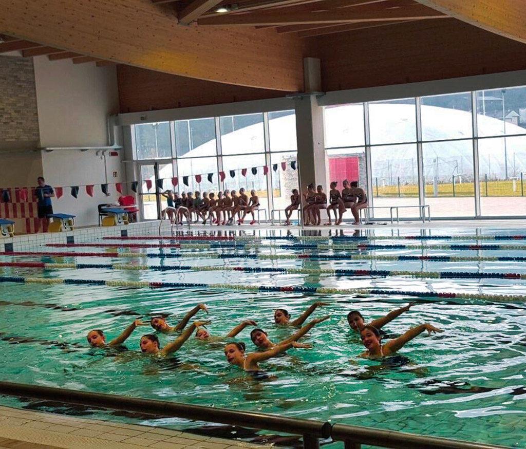 Piscina Piazzola Sul Brenta corsi nuoto sincronizzato - gis